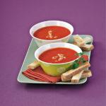 Soupe de tomates épicée et ses mouillettes